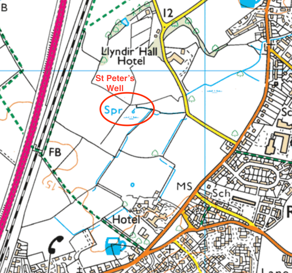 Location Map of St Peters Well