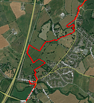 Map showing boundary changes between Rossett ward and the adjacent new ward of Llay/Burton