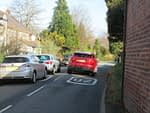 Image showing restrictive pedestrian access on Holt Road.